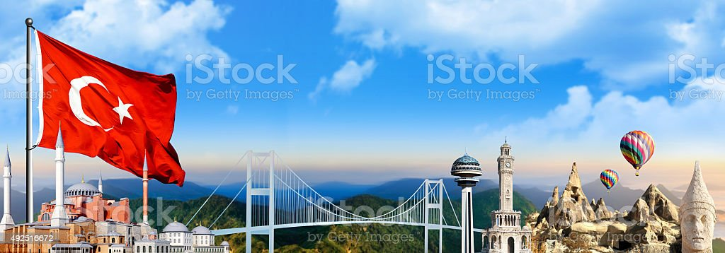Turkey travel scene stock photo