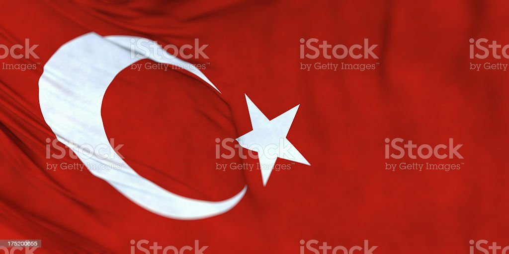 Turkey, Turkish flag panoramic texture background royalty-free stock photo