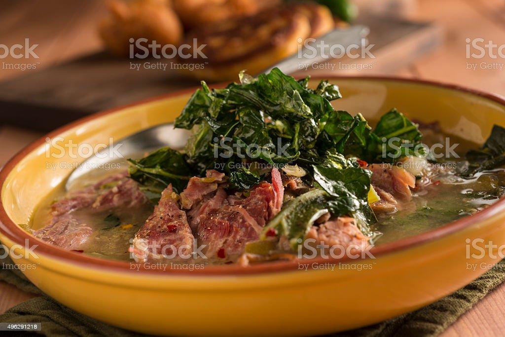 Turkey White Bean Stew stock photo