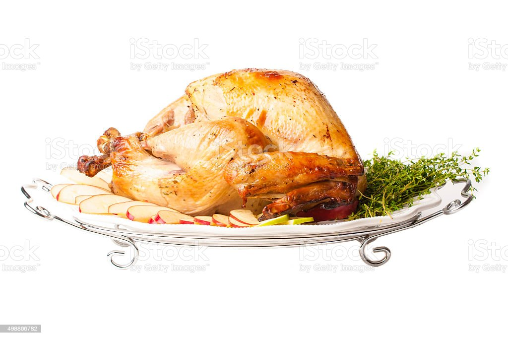 Turkey with Apples and Thyme stock photo