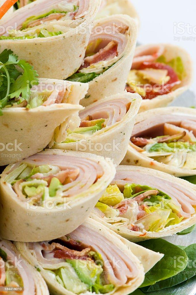 Turkey Wraps Food Closeup royalty-free stock photo