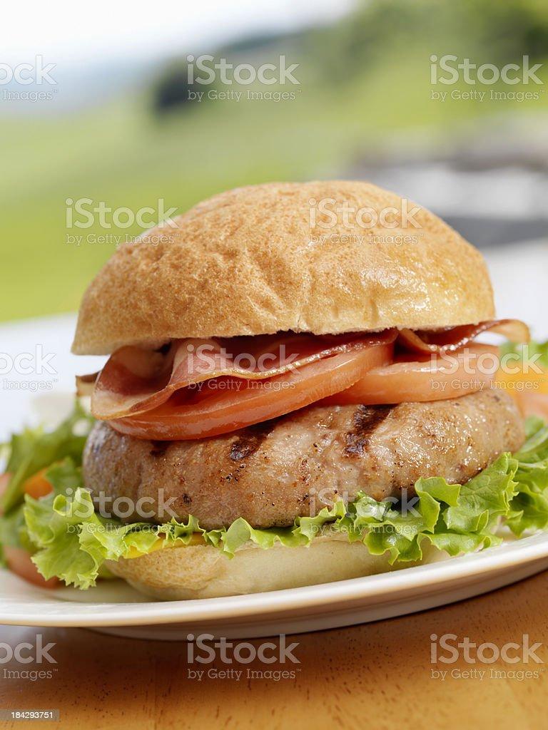 BBQ Turkeyburger royalty-free stock photo