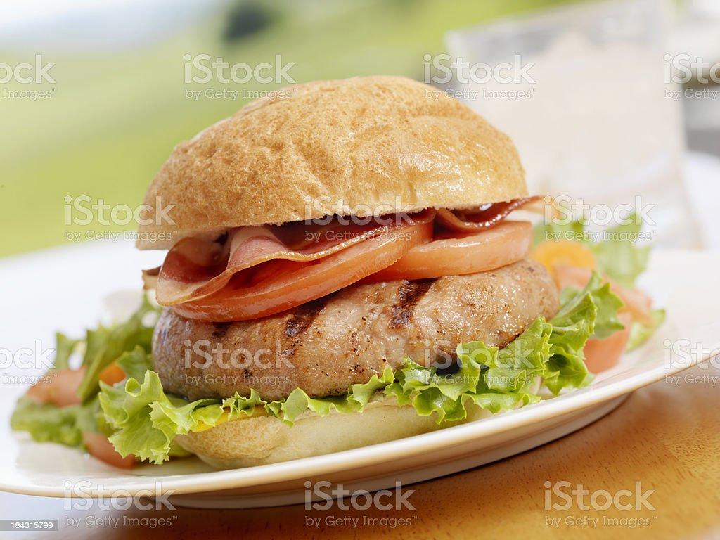 BBQ Turkeyburger stock photo