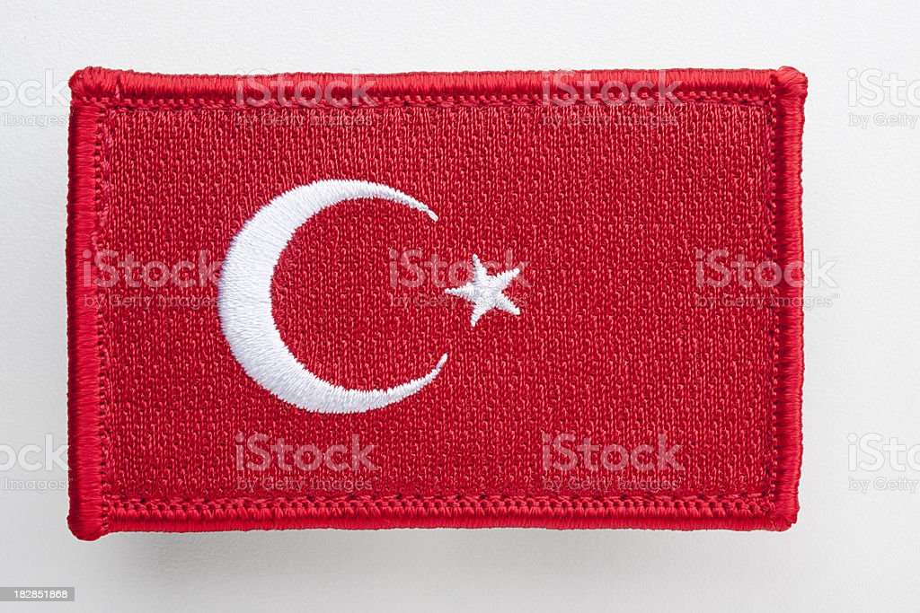 Turkey's flag patch. stock photo