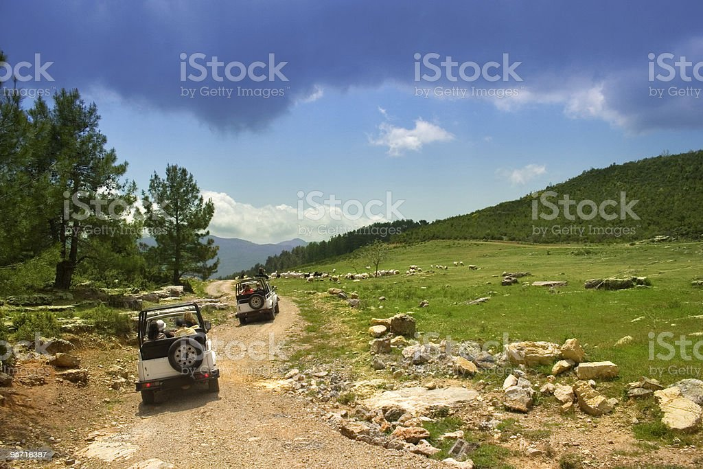 Turkey's jeep safari stock photo