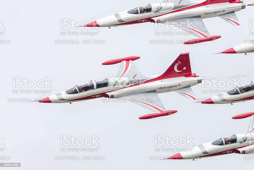 Turkish Air Force Demonstration Team stock photo