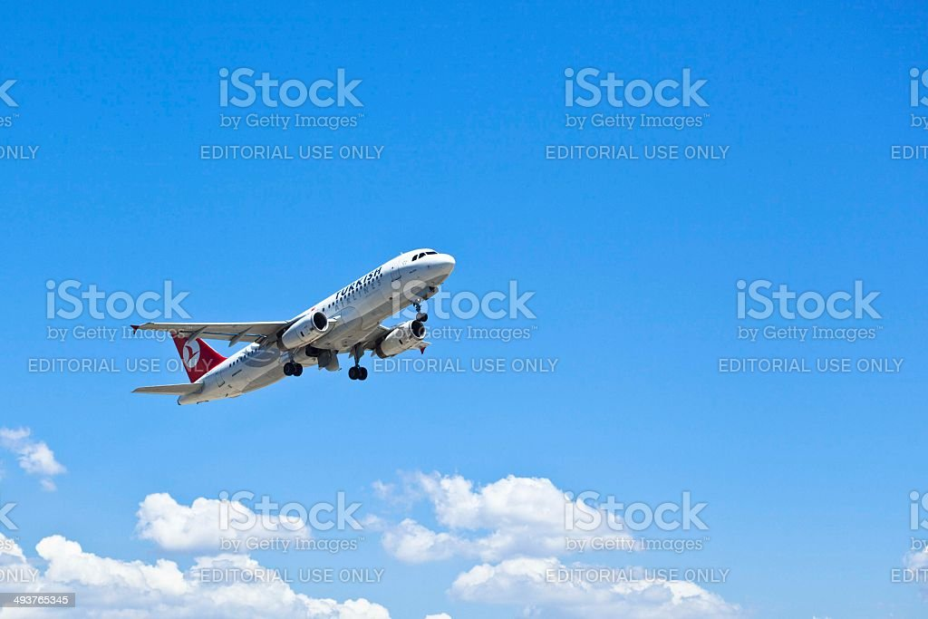 Turkish Airlines Airbus A320 royalty-free stock photo