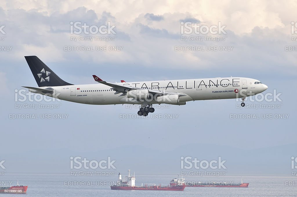 Turkish Airlines Airbus A340 stock photo