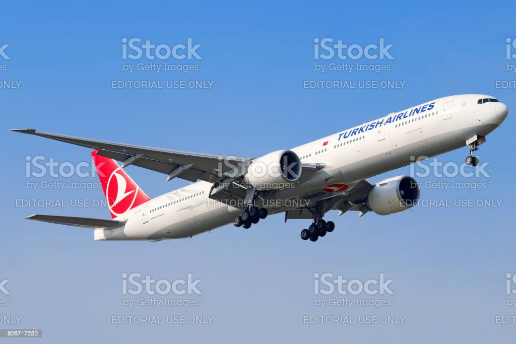 Turkish Airlines aircraft stock photo