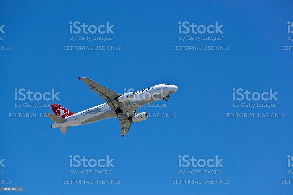 Turkish Airlines Airplane royalty-free stock photo