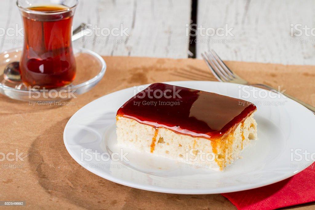 Turkish and arabic traditional ramadan dessert tralice stock photo