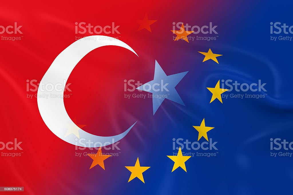 Turkish and European Relations Concept Image stock photo