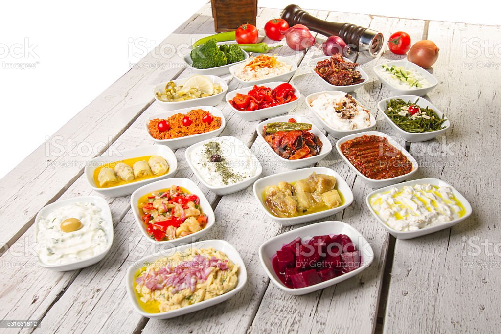 Turkish and Greek Dinner Table stock photo