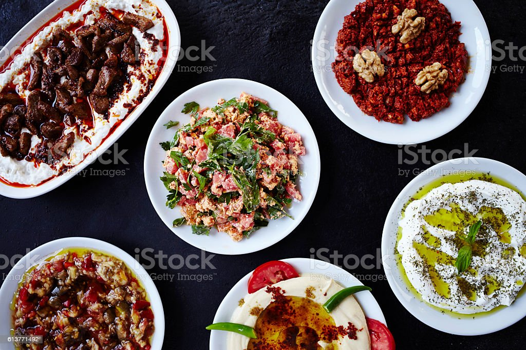 Turkish Appetizer - Meze stock photo