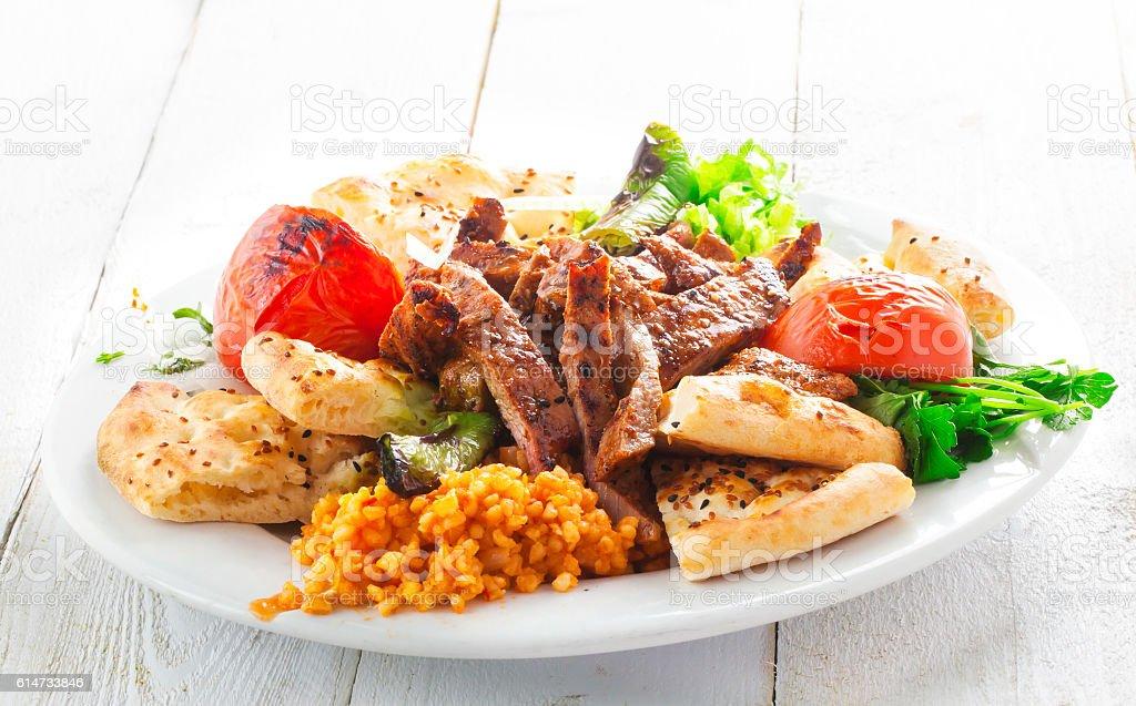 Turkish, Arabian Food Kebab stock photo