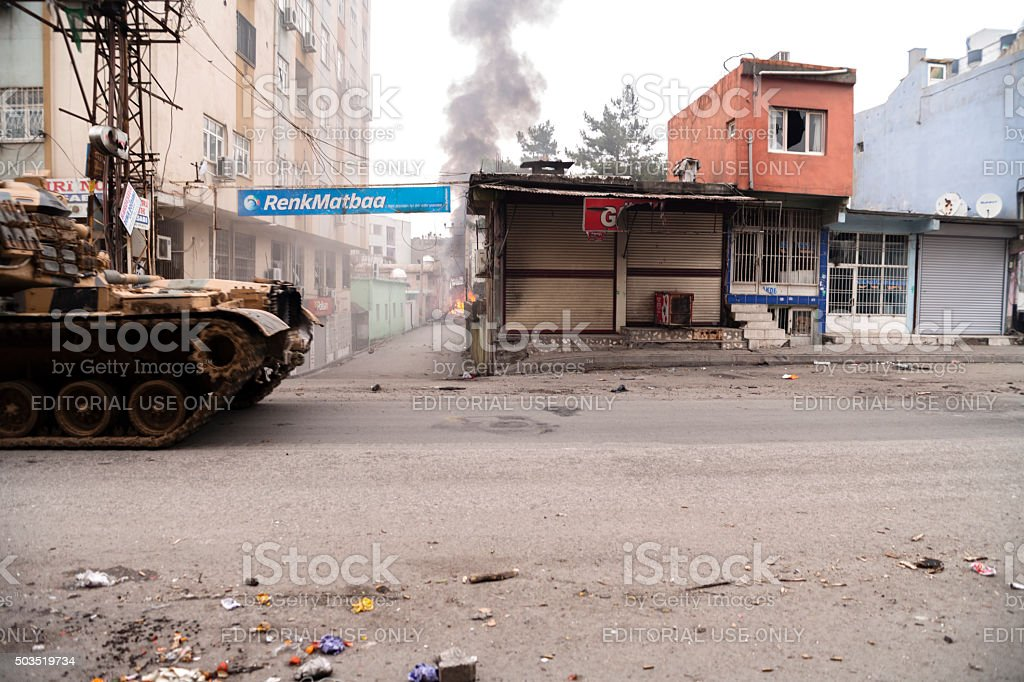 Turkish armed forces opearations at Cizre stock photo