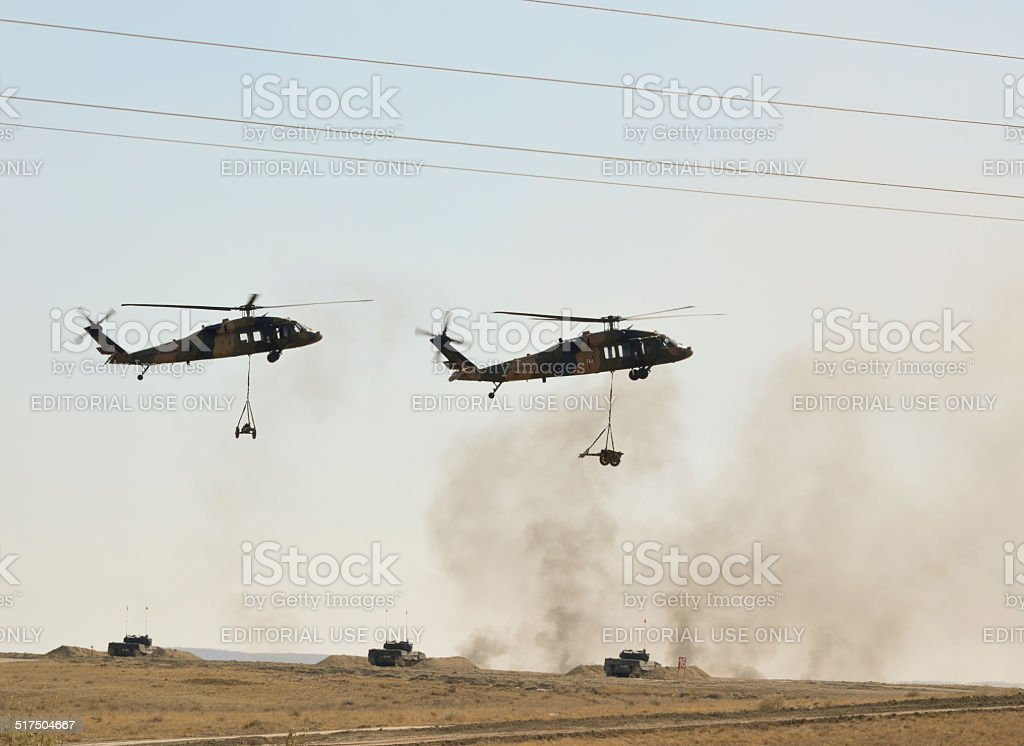 Turkish Army Helicopters stock photo