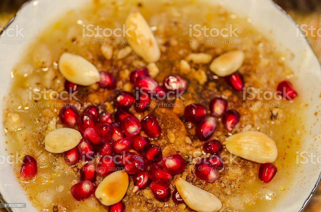 Turkish Ashura - Noah's pudding stock photo