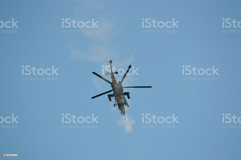 Turkish Attack Helicopter stock photo