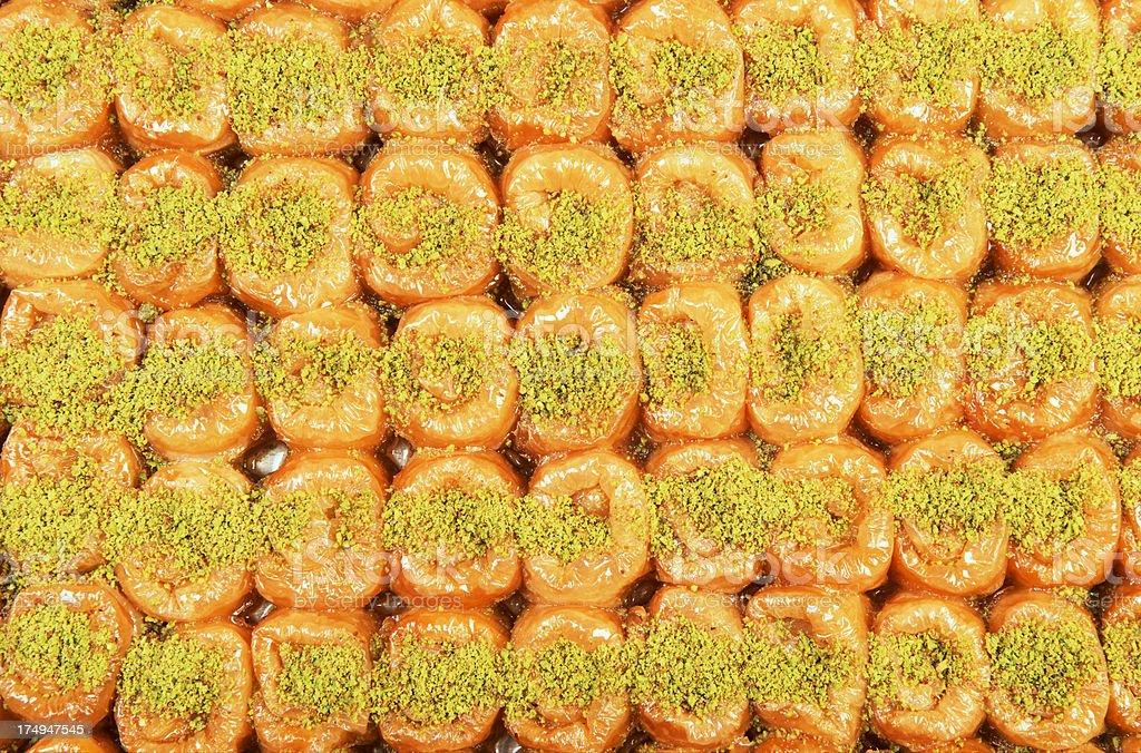 Turkish Baklava royalty-free stock photo