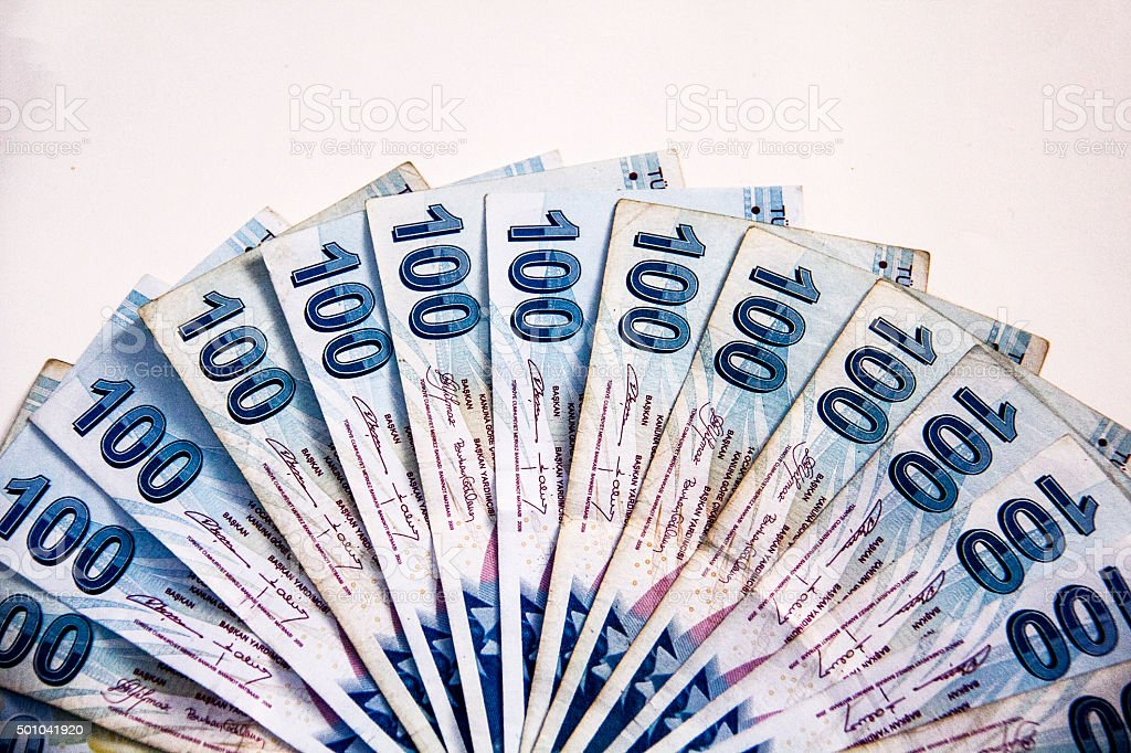 Turkish Banknotes stock photo
