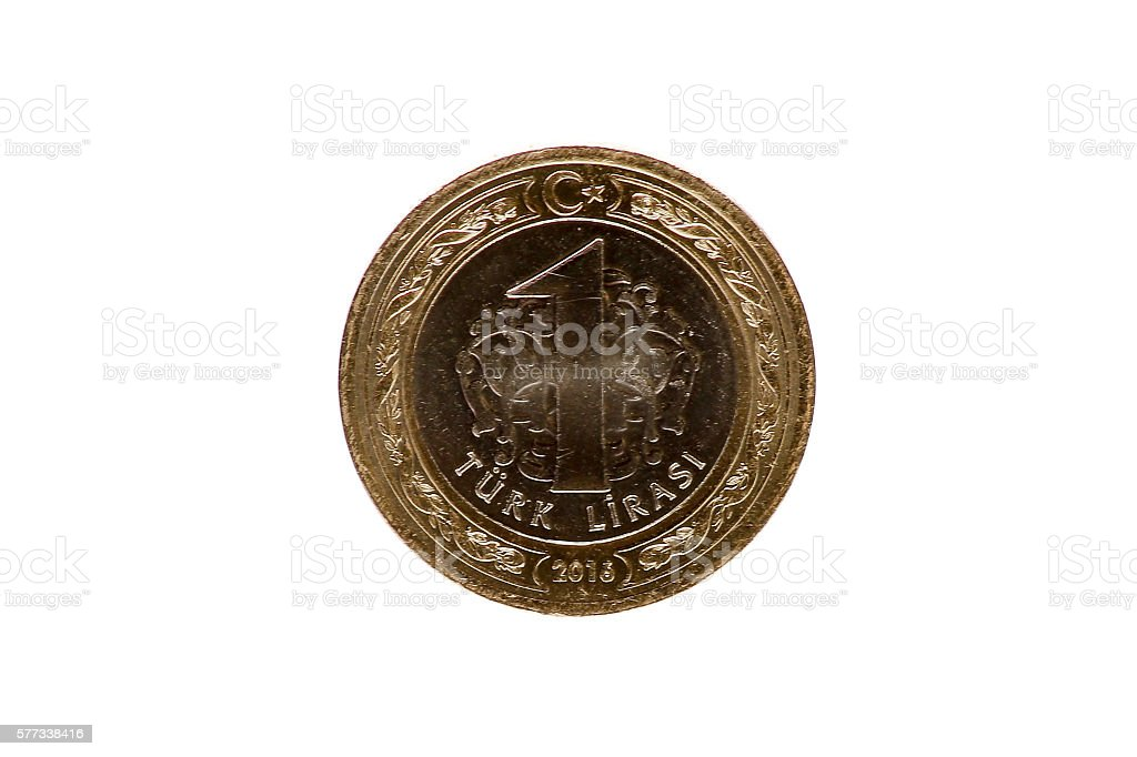 turkish bankonot coins stock photo