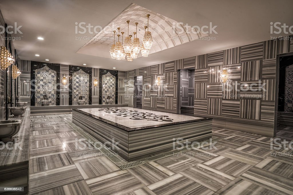Turkish bath hamam stock photo
