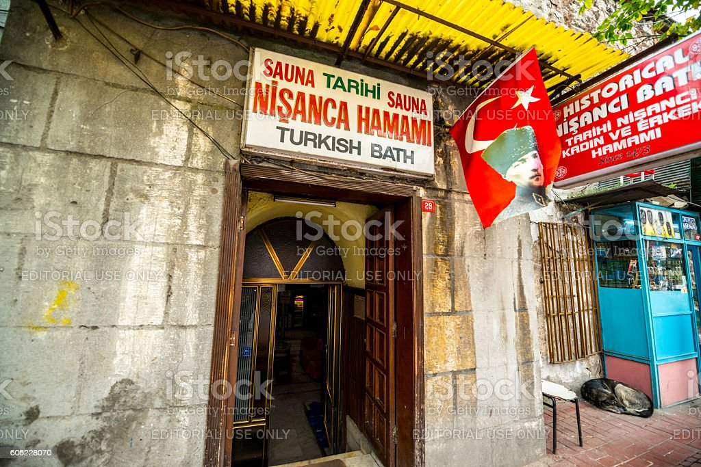 Turkish bath in Istanbul, Turkey stock photo