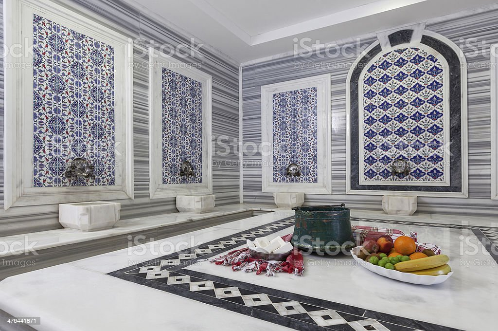 Turkish Bath (hamam) stock photo