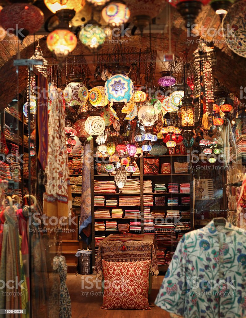 Turkish Bazaar in Istanbul royalty-free stock photo