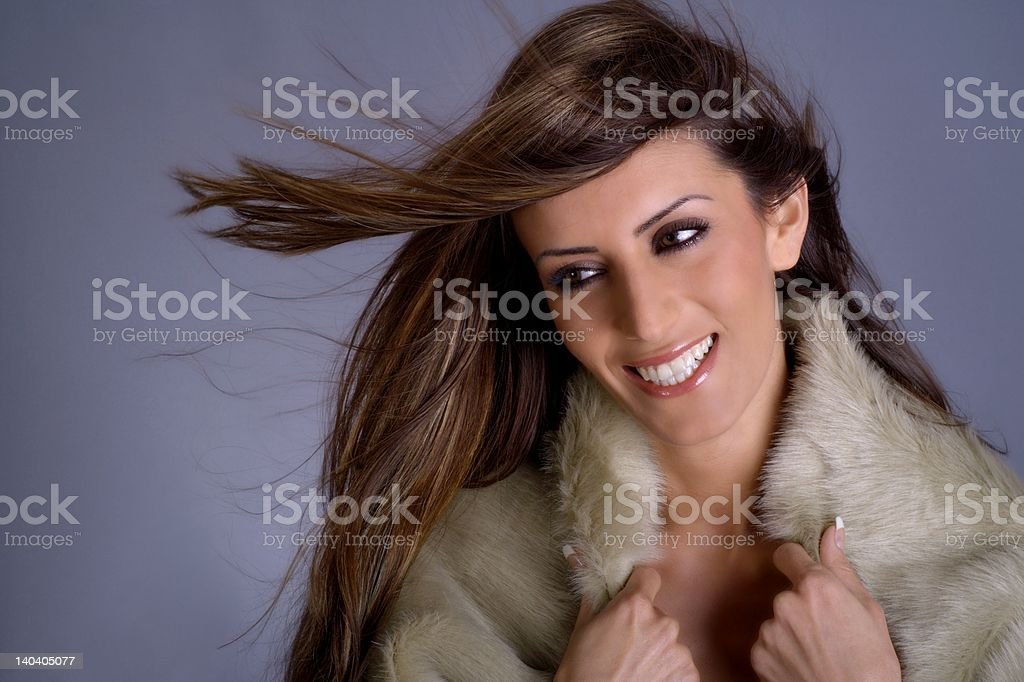 Turkish beauty with long hair royalty-free stock photo