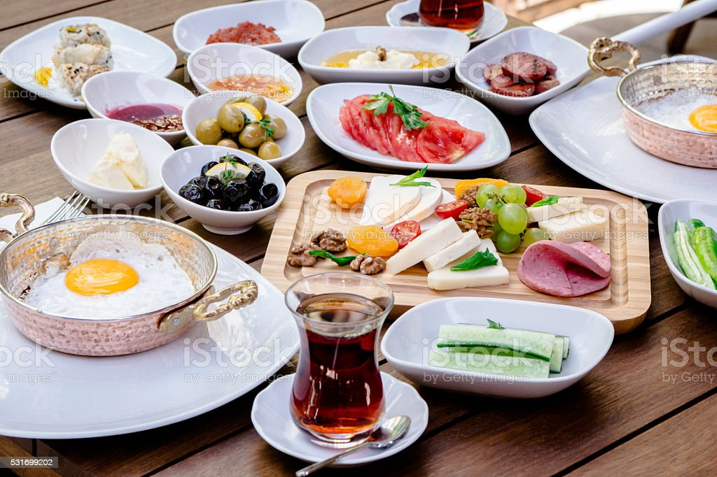 turkish breakfast stock photo