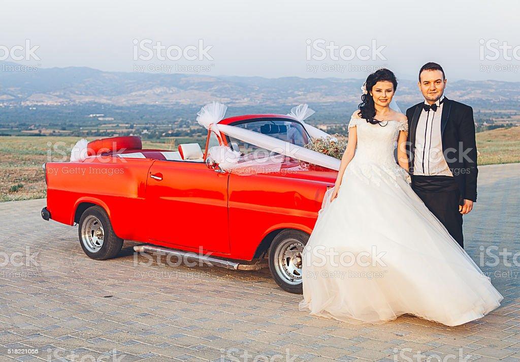 Turkish bride and groom stock photo