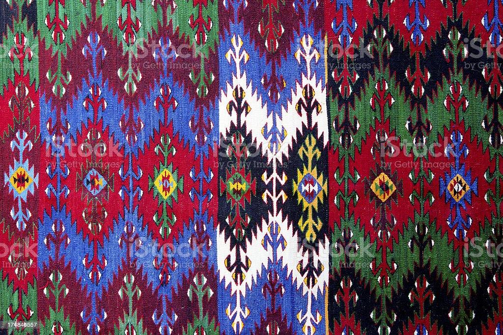 Turkish carpet background royalty-free stock photo