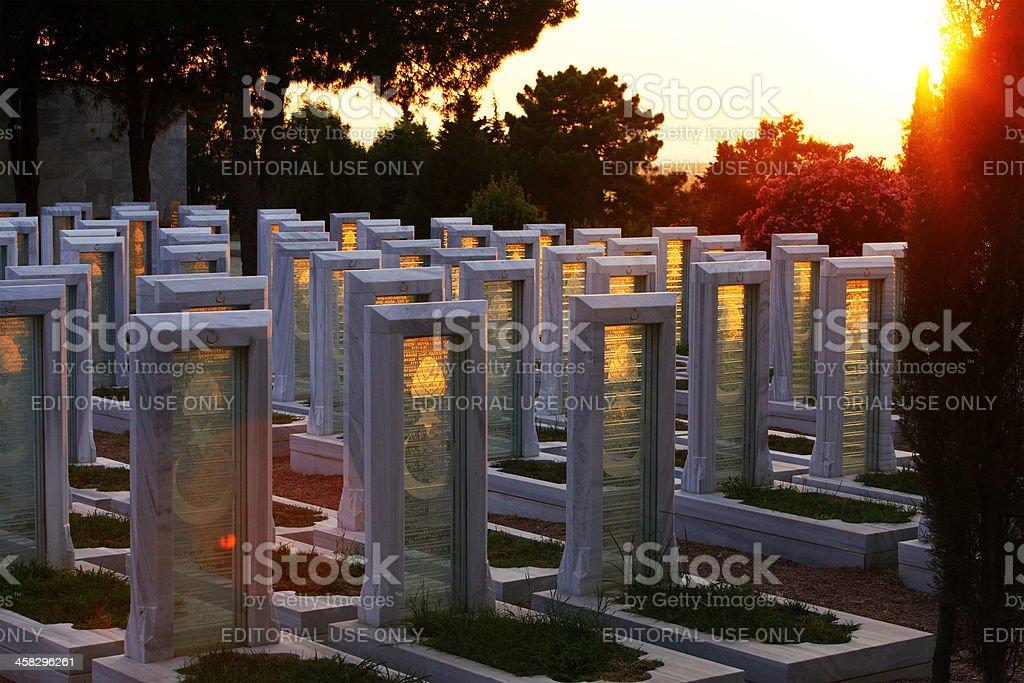 Turkish Cemetery, Battle of Gallipoli stock photo