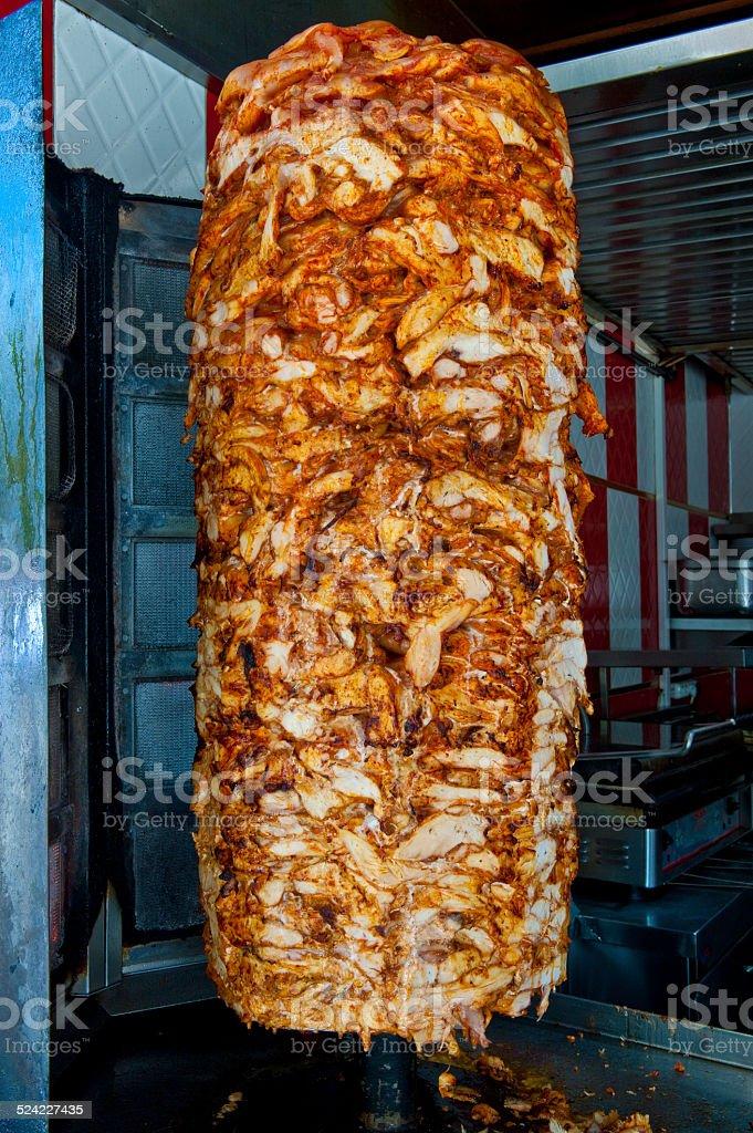 Turkish Chicken Doner Kebap stock photo