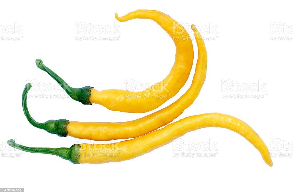 Turkish Chili pepper - Turuncu spiral (Capsicum annuum) stock photo