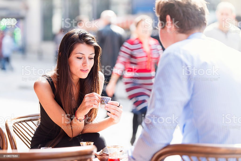 Turkish coffee and fortune telling stock photo
