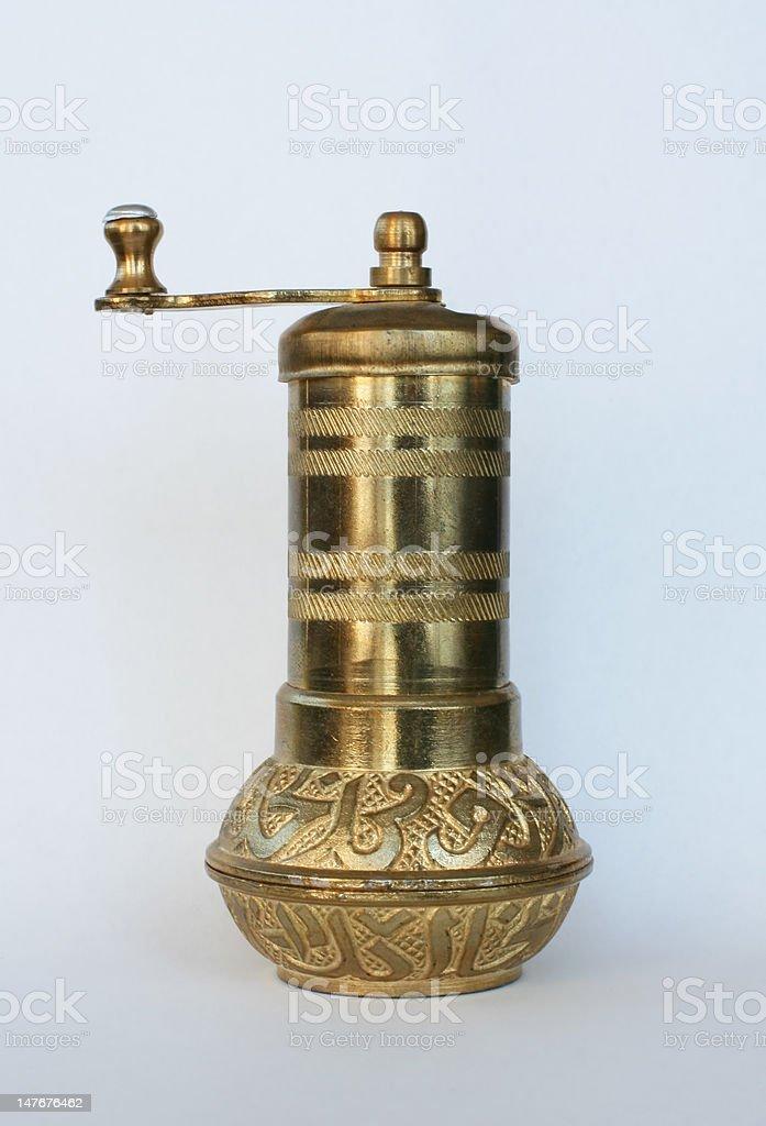 Turkish coffee grinder stock photo
