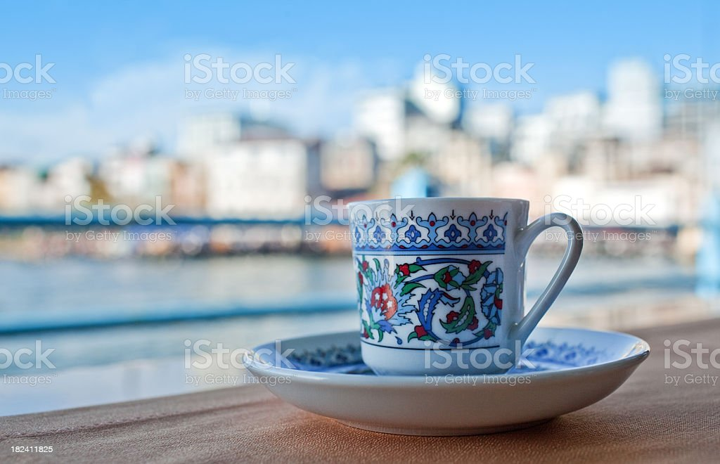 Turkish Coffee in Istanbul royalty-free stock photo