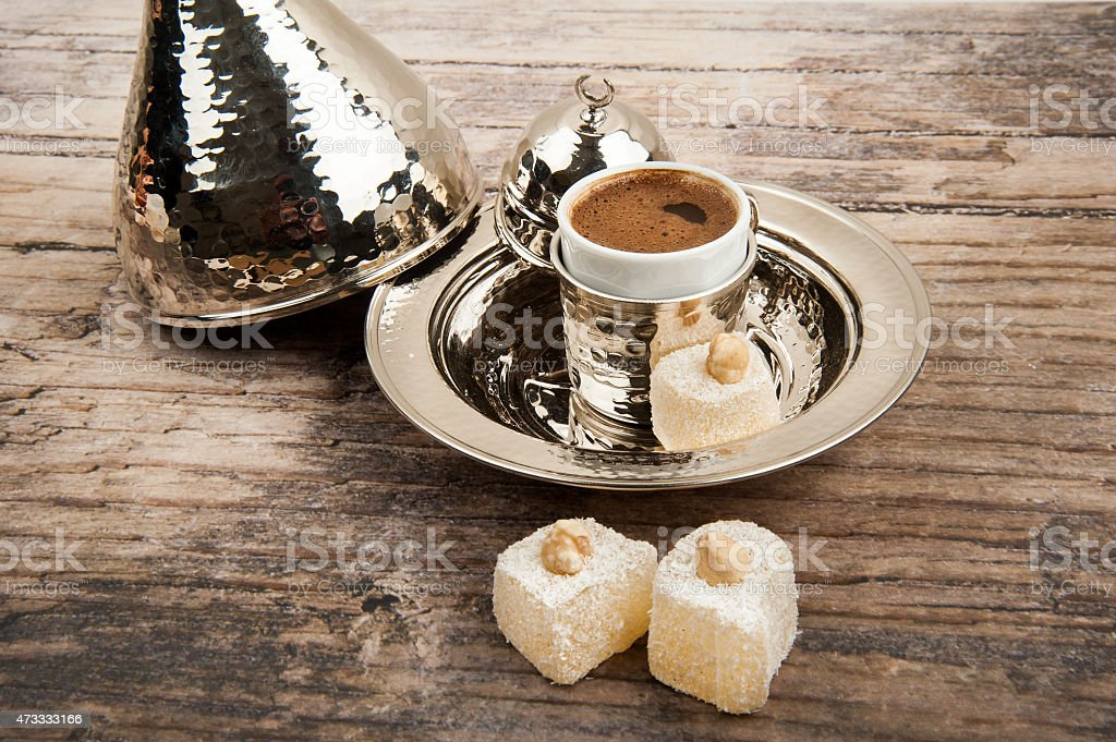 Turkish coffee on the table stock photo