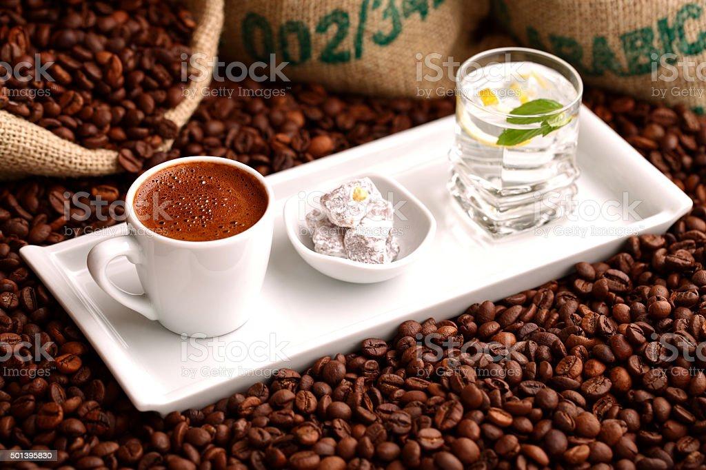 turkish coffee stock photo