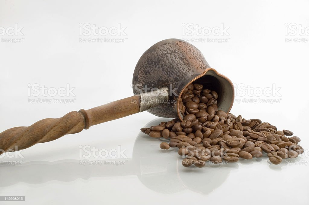 Turkish coffee pot. royalty-free stock photo