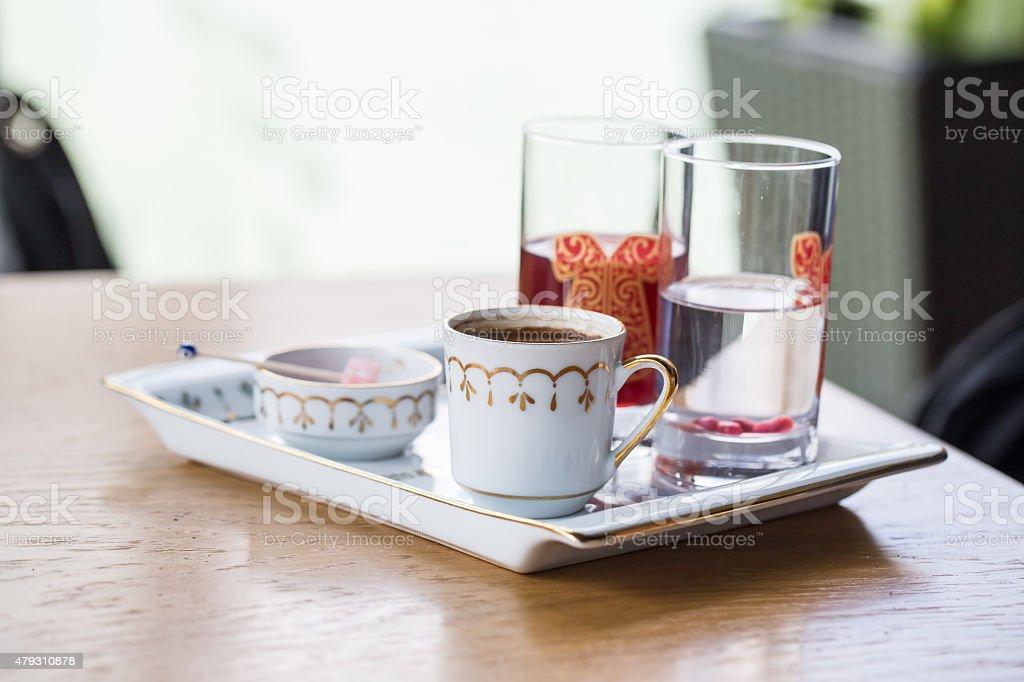 Turkish Coffee Serve stock photo