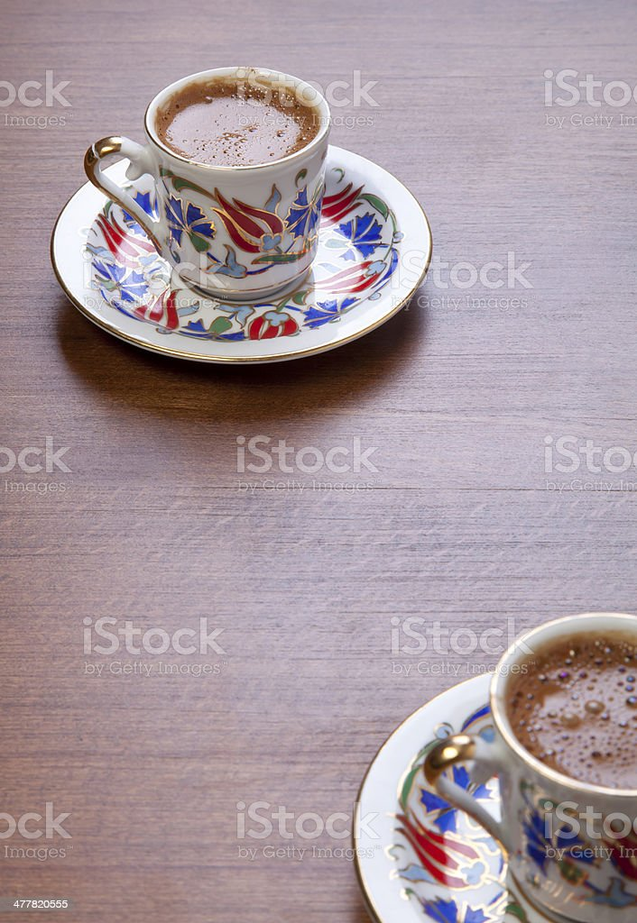 Turkish coffee,selective focus royalty-free stock photo