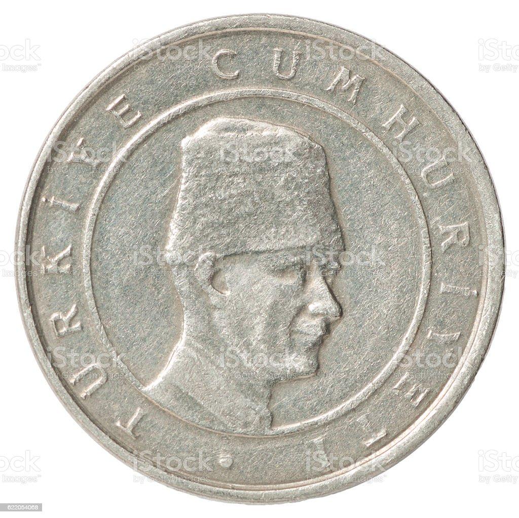 Turkish coin stock photo