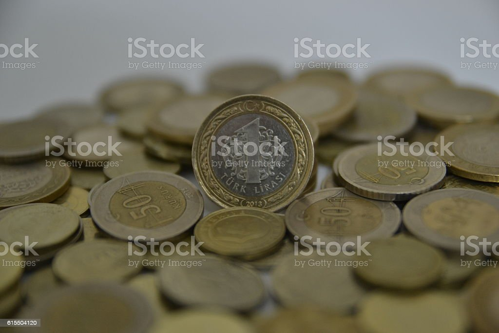 Turkish Coins and Penny stock photo