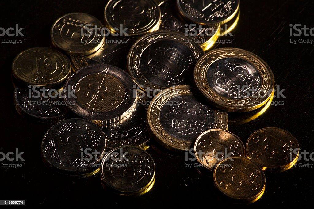 turkish coins stock photo