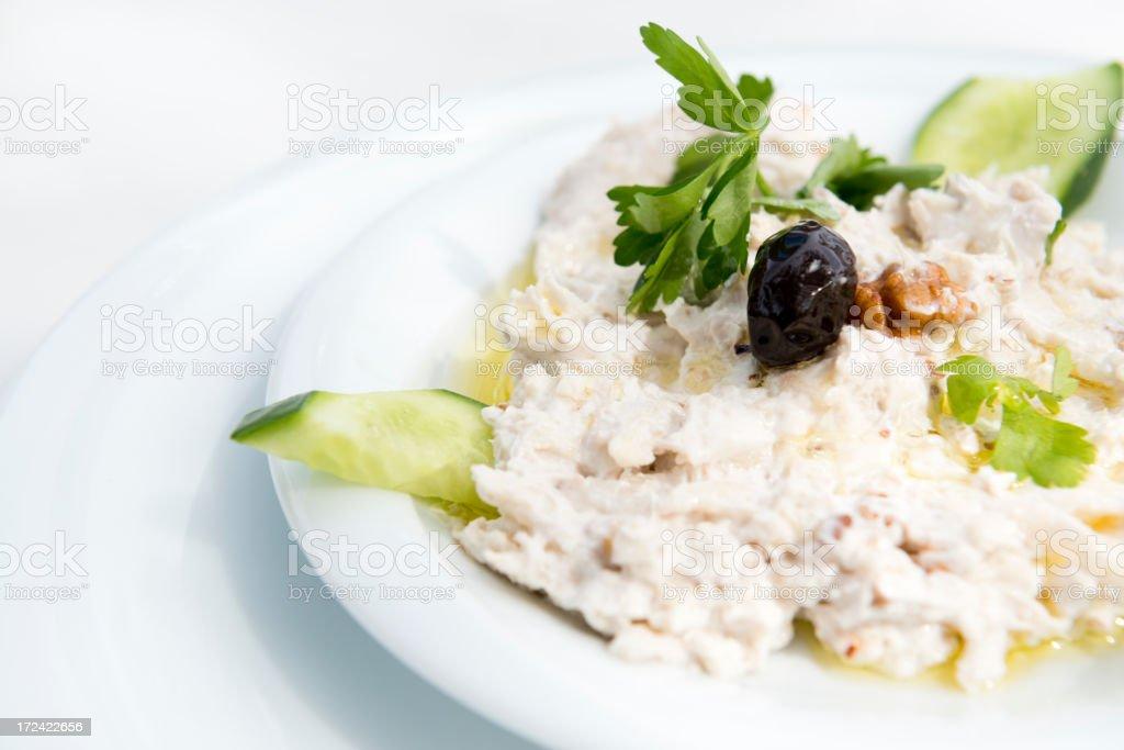 Turkish Cuisine: Celery salad with yogurt royalty-free stock photo