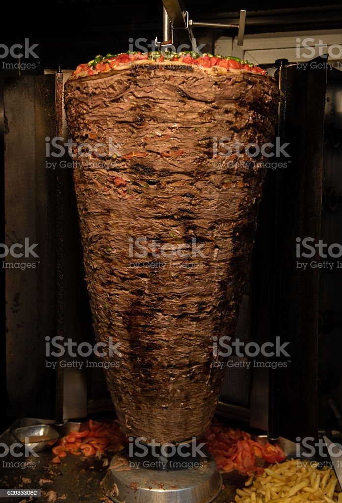 Turkish cuisine - Doner - Turkish kebab stock photo
